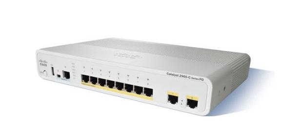 Bộ chuyển mạch Ethernet nhanh 8 cổng 10/100 Cisco Catalyst WS-C2960CPD-8PT-L