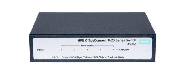 Bộ chuyển mạch Gigabit 5 cổng HP 1420 OfficeConnect JH327A