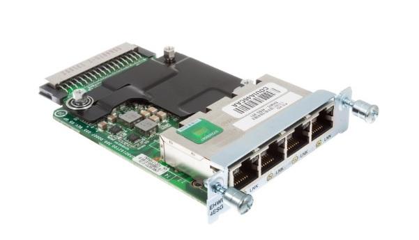 Thẻ giao diện WAN tốc độ cao được cải tiến 4 cổng của Cisco Gigabit Ethernet EHWIC-4ESG