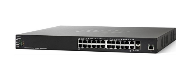24-port 10/100 Managed Switch CISCO SF350-24-K9-EU