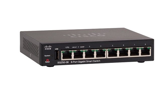 8-Port Gigabit Smart Switch CISCO SG250-08-K9-EU