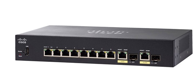 10-Port Gigabit PoE Managed Switch CISCO SG350-10MP-K9-EU