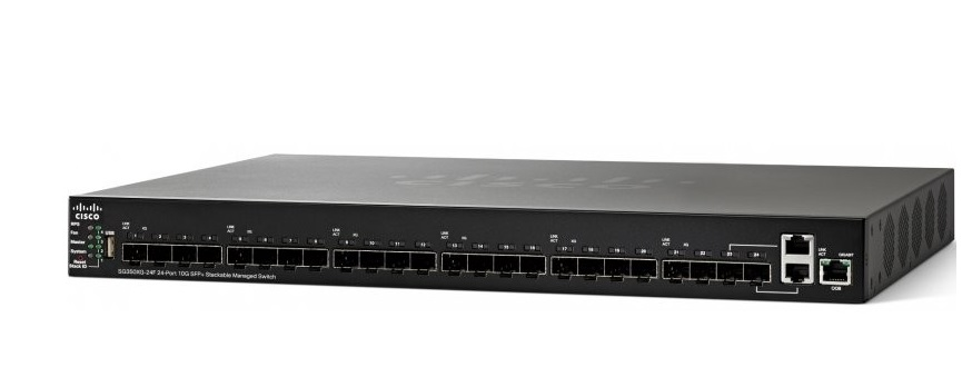 SFP 24 cổng 10G + Công tắc được quản lý có thể xếp chồng lên nhau CISCO SG350XG-24F-K9-EU