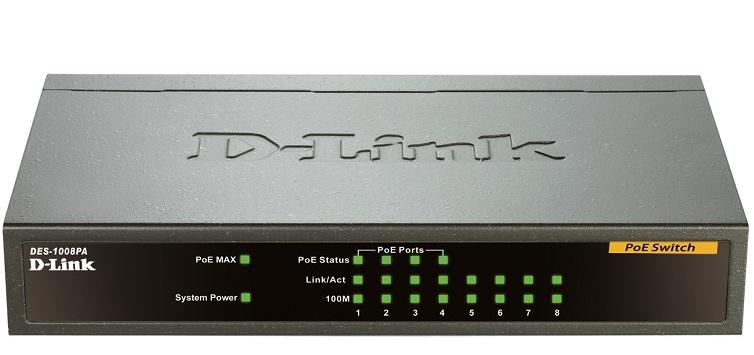 8-Port 10 / 100Mbps with 4-port PoE Switch D-Link DES-1008PA