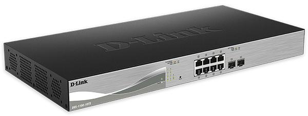 Bộ chuyển mạch được quản lý thông minh dễ dàng Gigabit Ethernet 10 cổng D-Link DXS-1100-10TS