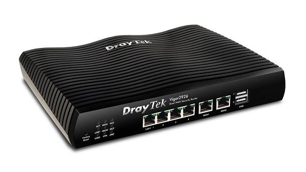 Bộ định tuyến VPN cân bằng tải mạng kép DrayTek Vigor2926