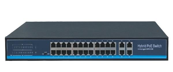 Bộ chuyển mạch 24 cổng Gigabit PoE + 4Combo Grandflow S5800P-24G4COMBO
