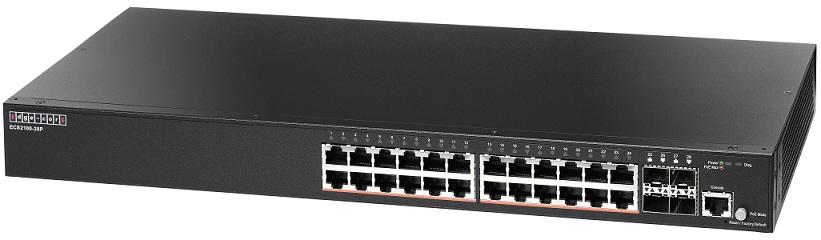 Chuyển mạch web 24 cổng Gigabit-Smart Pro PoE Edgecore ECS2100-28P