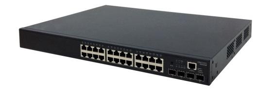 Công tắc truy cập / kết hợp Ethernet 24 cổng + Ethernet Gigabit PoE Edgecore ECS4120-28P