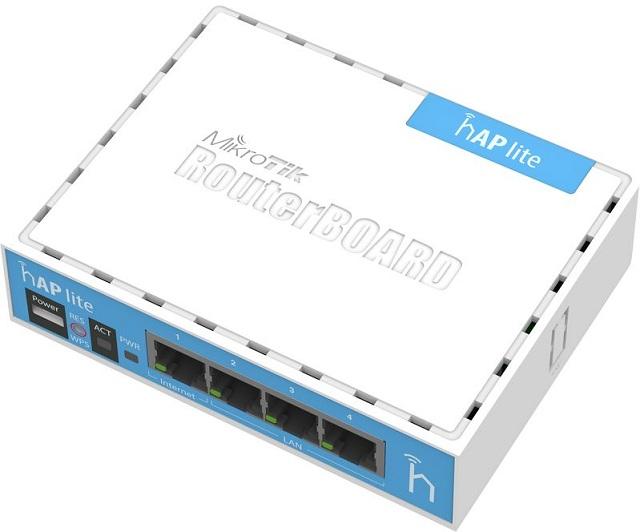 Bộ định tuyến WiFi Hotspot Mikrotik RB941-2nD (hAP lite classic)