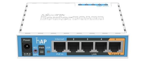 Bộ định tuyến điểm truy cập WiFi Mikrotik RB951Ui-2nD (hAP)