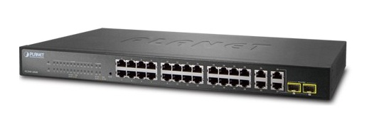 24 Port 10 / 100BASE-TX + 4 Port 10/100 / 1000BASE-T + 2 Port 100 / 1000BASE-X SFP Switch PLANET FGSW-2840
