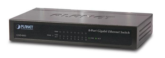 Bộ chuyển mạch Gigabit Ethernet 8 cổng 10/100 / 1000Mbps GSD-803