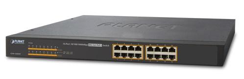 Bộ chuyển mạch PoE 16 cổng 10/100 / 1000Mbps GSW-1600HP