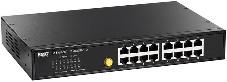 Bộ chuyển mạch Gigabit 16 cổng SMC SMCGS1610