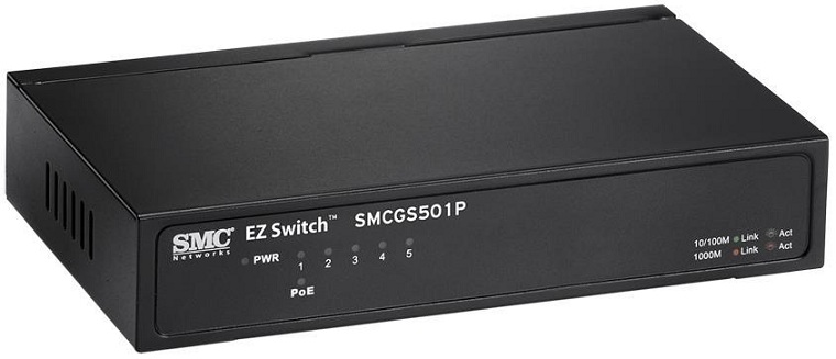Bộ chuyển mạch Gigabit 5 cổng PoE SMC SMCGS501P