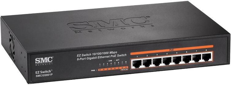 Bộ chuyển mạch Gigabit 8 cổng PoE SMC SMCGS801P