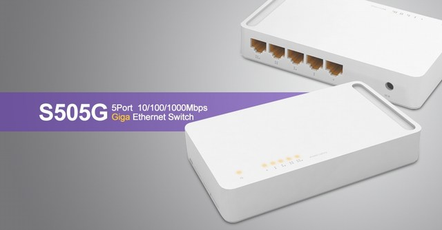 5 cổng 10/100 / 1000Mbps Chuyển đổi TOTOLINK S505G