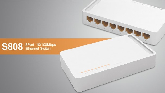 8 ports 10 / 100Mbps Switch TOTOLINK S808