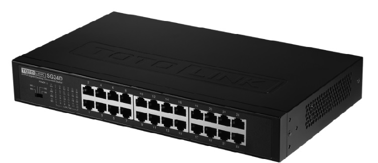 24 ports 10/100 / 1000Mbps Switch TOTOLINK SG24D