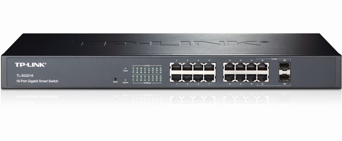 16-Port + 2 SFP Pure-Gigabit Slot Smart Switch TP-LINK TL-SG2216