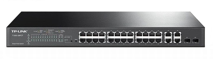 24-Port 10 / 100Mbps + 4-Port Gigabit Smart PoE + Switch TP-LINK TL-SL2428P