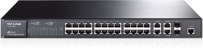 24-Port 10 / 100Mbps + 4-Port Gigabit Full Managed Switch TP-LINK TL-SL5428E