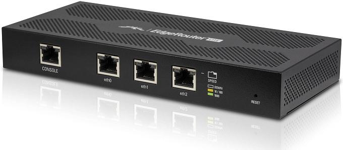 Bộ định tuyến Gigabit Ethernet 3 cổng 802.1q Vlan UBIQUITI EdgeRouter ERLite-3