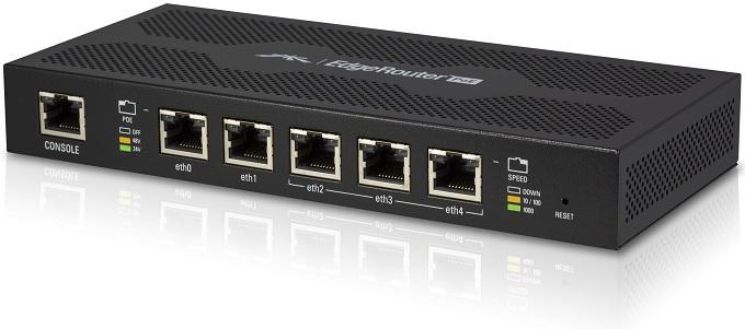 Bộ định tuyến Gigabit Ethernet 5 cổng với PoE Out UBIQUITI EdgeRouter ERPoe-5