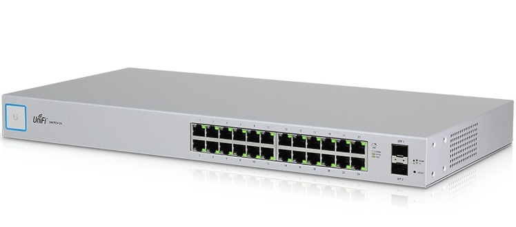 24 cổng với SFP Gigabit Managed Switch UniFi US-24