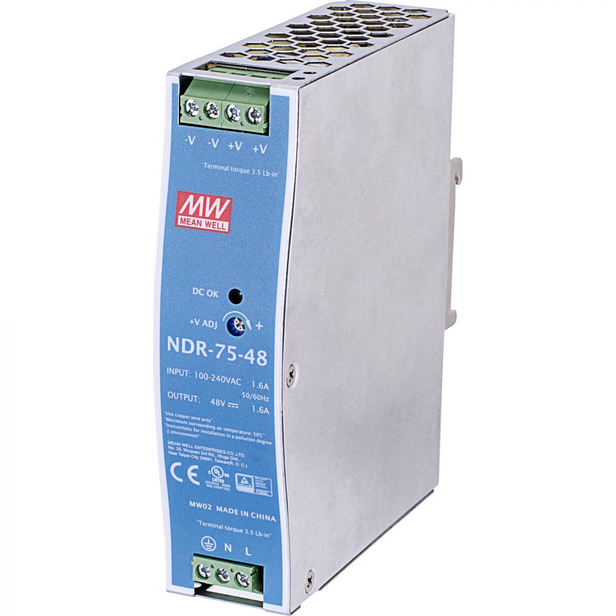 Bộ đổi nguồn 48VDC Vivotek NDR-75-48