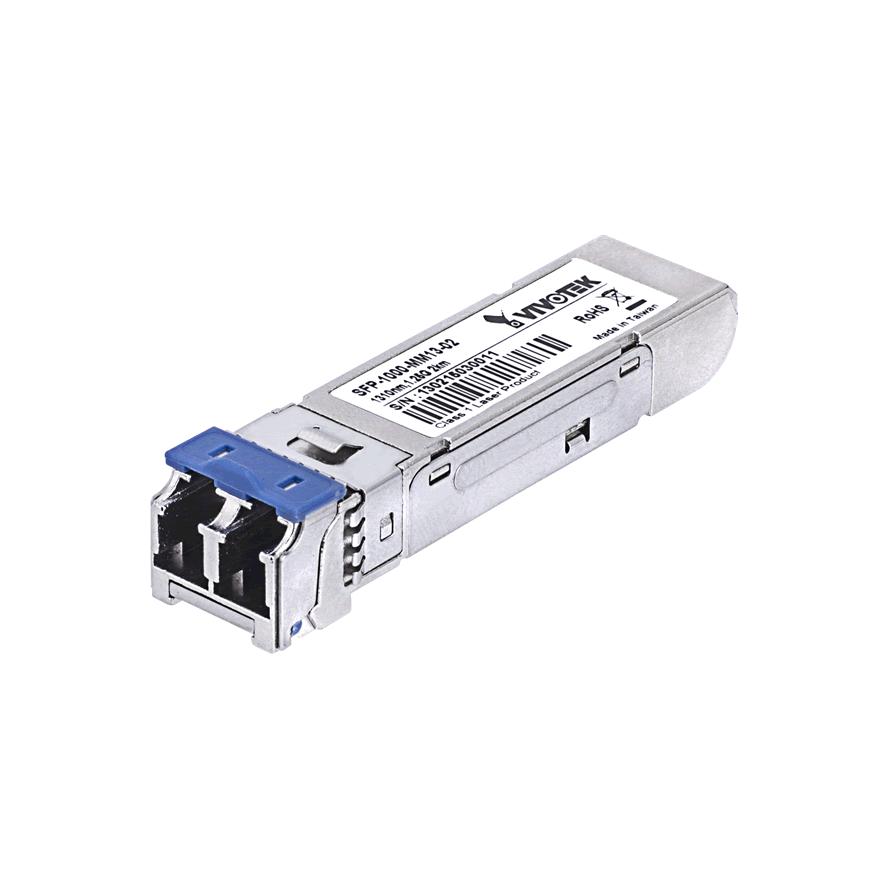 Bộ thu phát tín hiệu công nghiệp Gigabit mini GBIC đa chế độ 1310nm Vivotek SFP-1000-MM13-02I