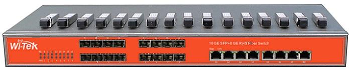Cổng 16SFP + 8GE Giagbit Switch WITEK WI-SG324F