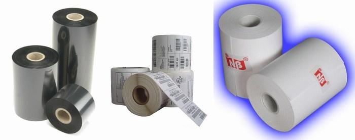Phụ kiện RIBBON, giấy in mã vạch, giấy in nhiệt, giấy cacbon