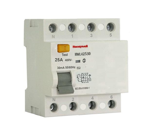 Cầu dao bảo vệ chống dòng rò RDC 4 cực HONEYWELL HWL42530