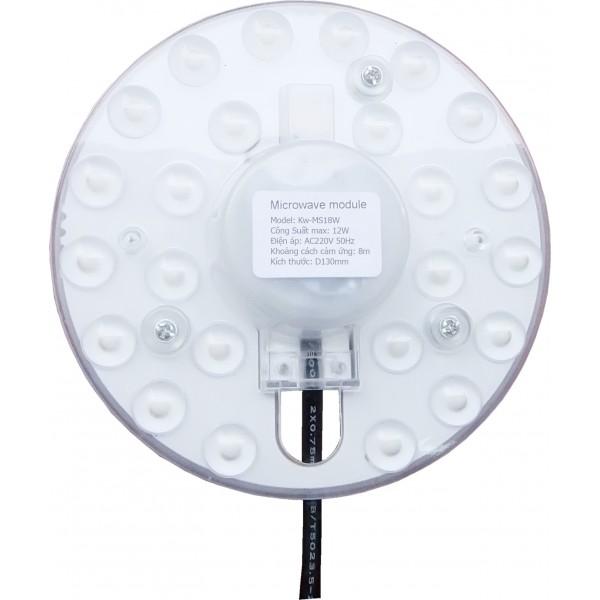 Mâm đèn Led Cảm Ứng Vi Sóng Cho Đèn Ốp Trần KW-MS18W