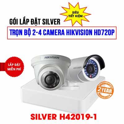 Trọn bộ 2 camera HIKVISION HD720P cho gia đình (SILVER H42019-1)