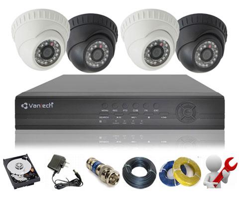 Trọn bộ camera quan sát Vantech hình ảnh HD sắc nét