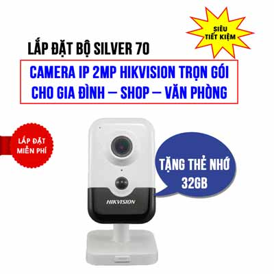 Lắp đặt camera IP Cube 2MP HIKVISION HKI-2423G0-IW giá rẻ (SILVER 70)
