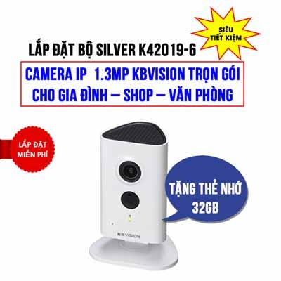 Lắp đặt camera Wifi KBVISION KBI-H13WN giá rẻ (SILVER K42019-6)