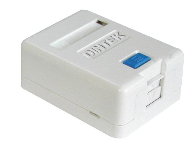 Ổ mạng nổi 1 port Dintek - Surface mount box (1301-02012)