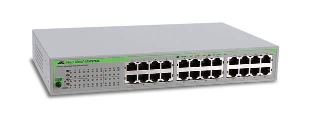 24-port 10 / 100TX Unmanaged Fast Ethernet Switch ALLIED TELESIS AT-FS724L