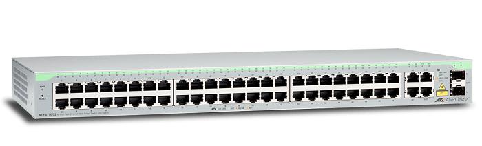 48-port 10 / 100TX + 2-port 10/100 / 1000T + 2-port SFP / 1000T Switch ALLIED TELESIS AT-FS750 / 52