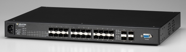 24 SFP slot 10 / 100Base-FX + 4 SFP slot Gigabit Managed Switch VolkTek MEN-6328D