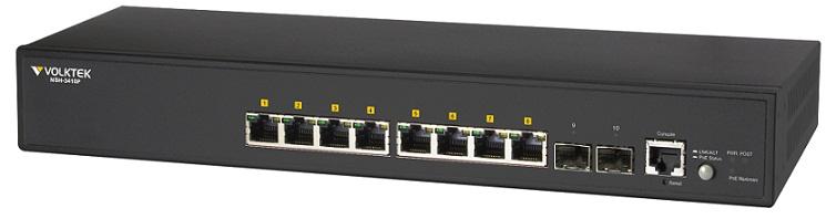 8-Port Gigabit PoE + 2 SFP Full Layer 2 Managed Switch VolkTek NSH-3410P