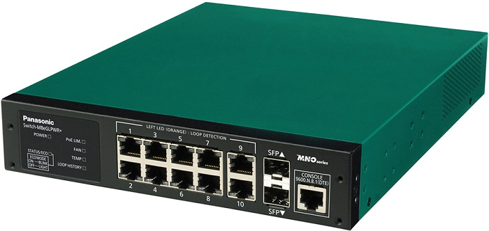 8 port 10/100 / 1000Mbps PoE + Switch PANASONIC PN28088