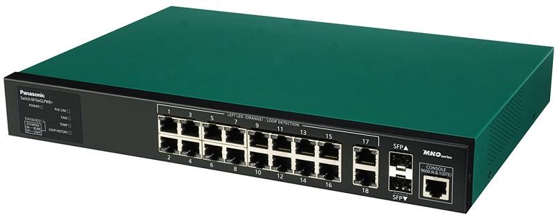 16 ports 10/100 / 1000Mbps PoE + Switch PANASONIC PN28168