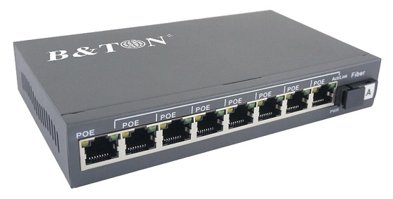 8 port 10 / 100Mbps PoE BTON Switch BT-6108FE-25