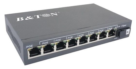 8-port 10/100 / 1000Mbps PoE Switch BTON BT-6108GE-20A / B