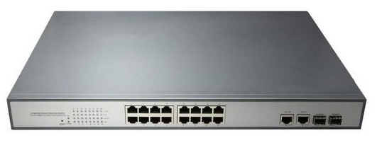 16 ports 10 / 100Mbps PoE BTON Switch BT-6218FE-GESFP